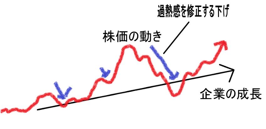 株価の動きと企業の成長曲線