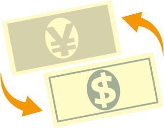 通貨の両替のイメージ