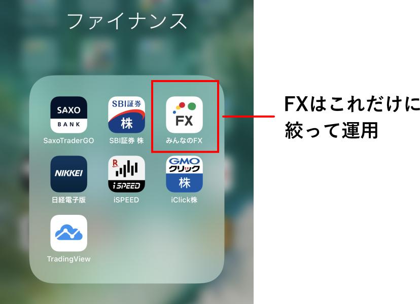 スマートフォンの証券会社アプリのスクリーンショット